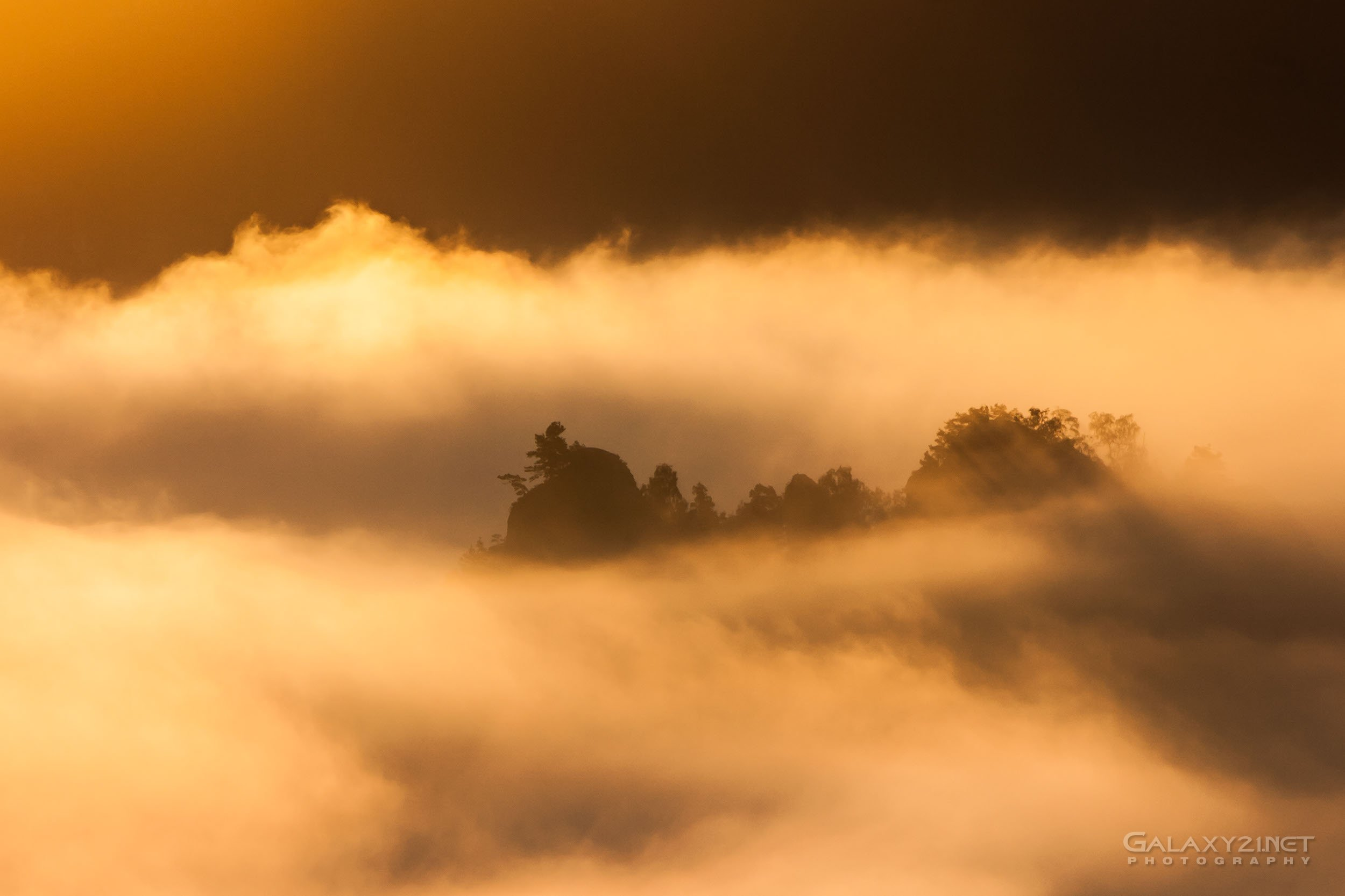 Bastei in goldenem Licht